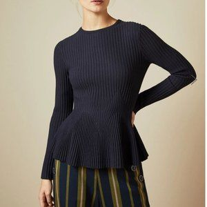 Ted Baker Jariala Peplum Sweater Ted Baker Sz 1